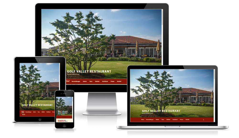 Website Pflege & Betreuung Golf Valley Restaurant