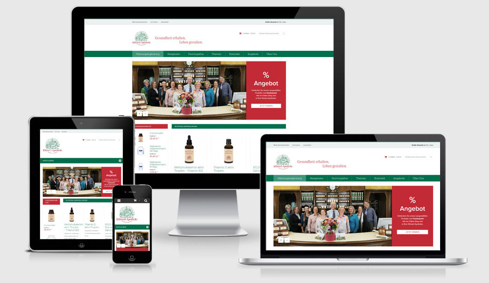 Relaunch Klösterl-Shop, Magento, Responsive Design